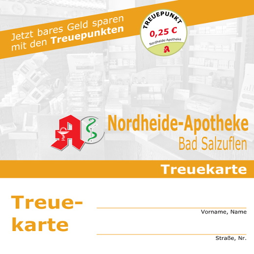 Bares Geld sparen mit der Treuekarte der Nordheide-Apotheke zwischen Bad Salzuflen und Lage